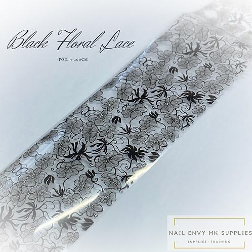 Foil - Black Floral Lace