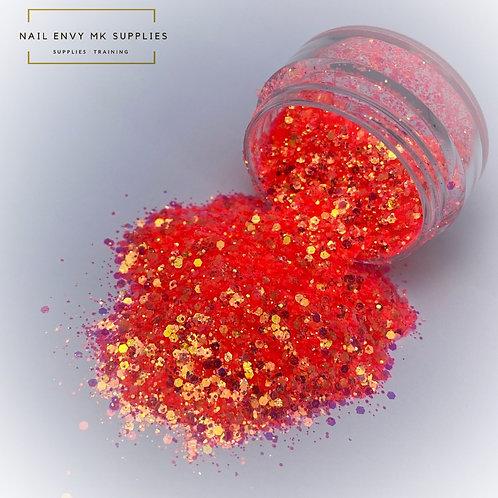 Coral Kisses Glitter