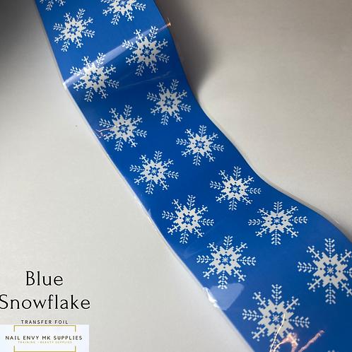 Blue Snowflake Foil