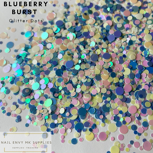 Blueberry Burst Glitter Dots