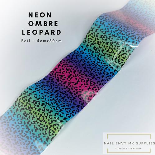 Foil - Neon Ombré Leopard