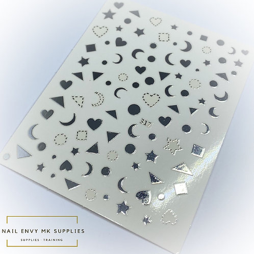 Silver Shape Stickers