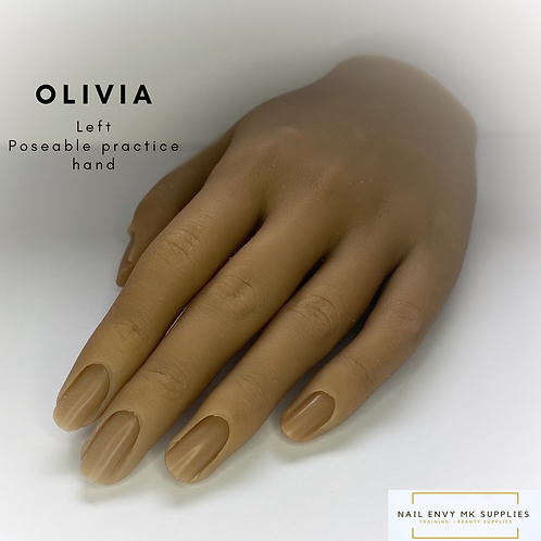 Olivia - Left Poseable Practice Hand