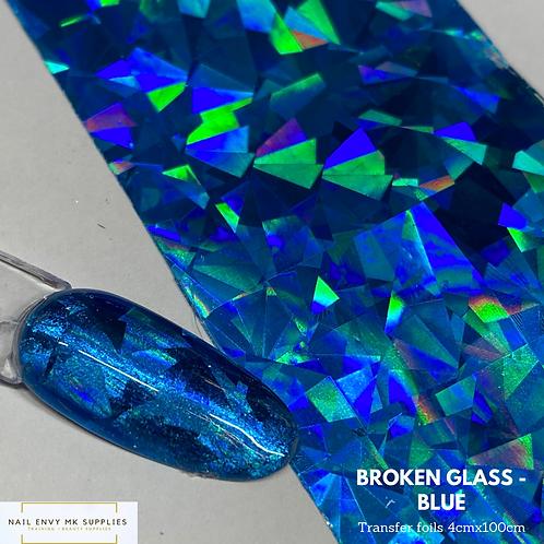 Broken Glass Foil - Blue