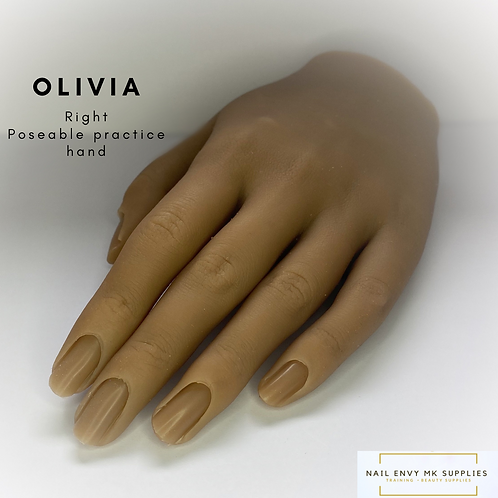 Olivia - Right Poseable Practice Hand
