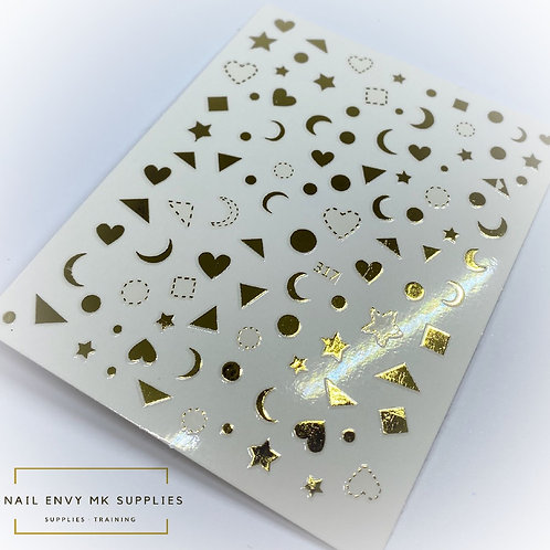 Gold Sticker Shapes
