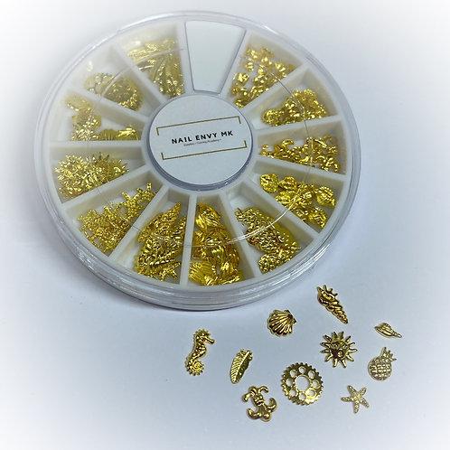 Nail Art Wheel - Gold
