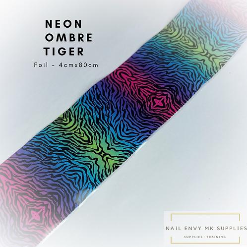 Foil - Neon Ombré Tiger