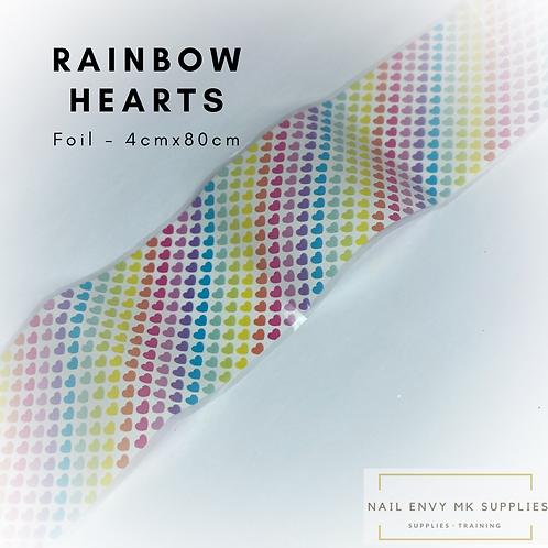 Foil - Rainbow Hearts