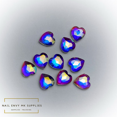 AB Mini Heart Crystals