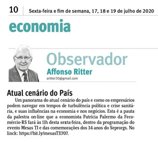 #ClienteACK: SEPRORGS no Jornal do Comércio