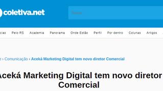 Aceká tem novo diretor Comercial - Coletiva.net