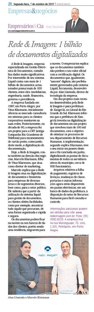 #ClienteACK: Rede&Imagem no Jornal do Comércio