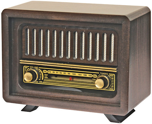 Çamlıca Nostaljik Ahşap Yeni Analog Radyo Adaptörlü