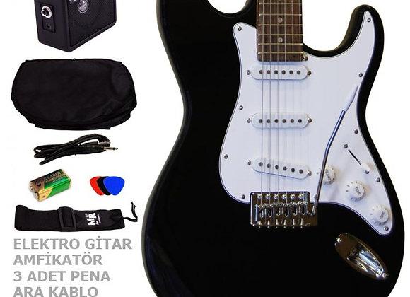 Elektro Gitar Seti MRE3SETBK