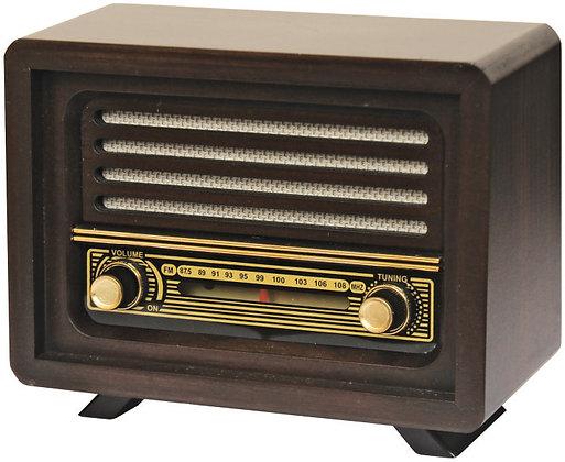 Laleli Nostaljik Ahşap Analog Radyo