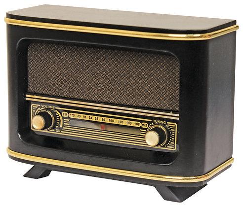 İstanbul Nostaljik Ahşap Analog Radyo Adaptörlü