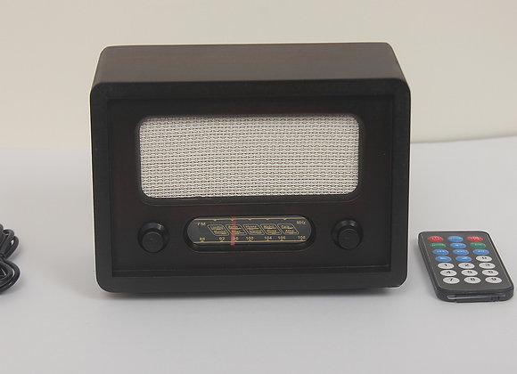Nostaljik Ahşap Dijital Radyo Adaptörlü R3-AAH