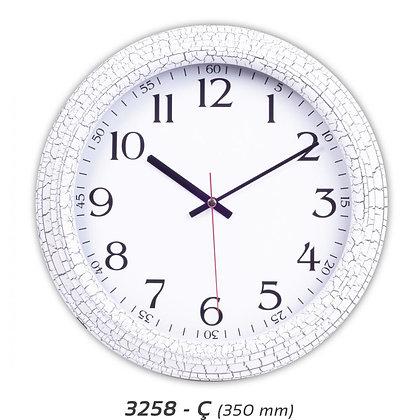 Çatlak Desenli Plastik Duvar Saati V-3258-Ç