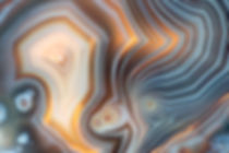 Closeup of a banded Agate specimen. The