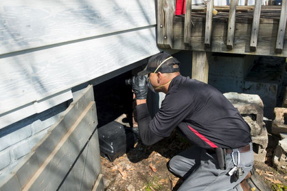 Crawlspace inspection isn't for the meek!
