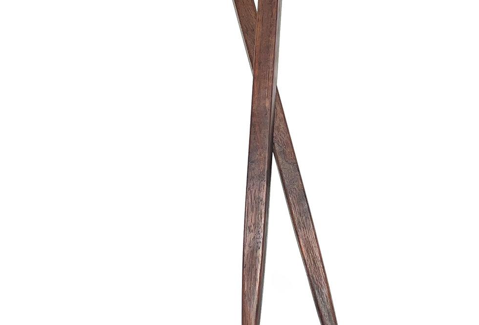 Large Chopsticks Dark Pink Resin Black Walnut