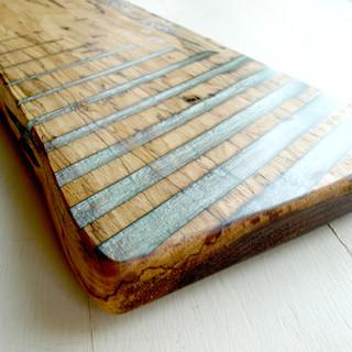 Black Walnut Resin Striped Serving-Charcuterie Board w Handle-1.jpg