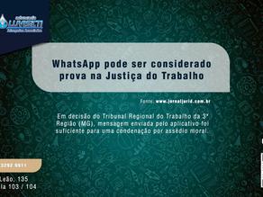 WhatsApp pode ser considerado prova na Justiça do Trabalho