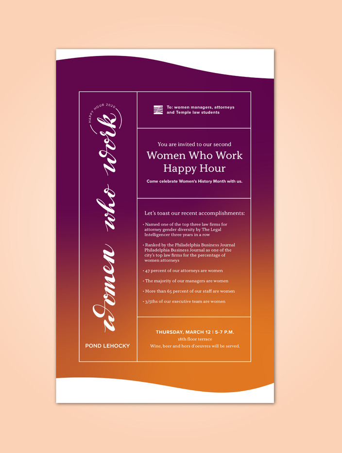 Email Inviation to a Women Who Work Happy Hour