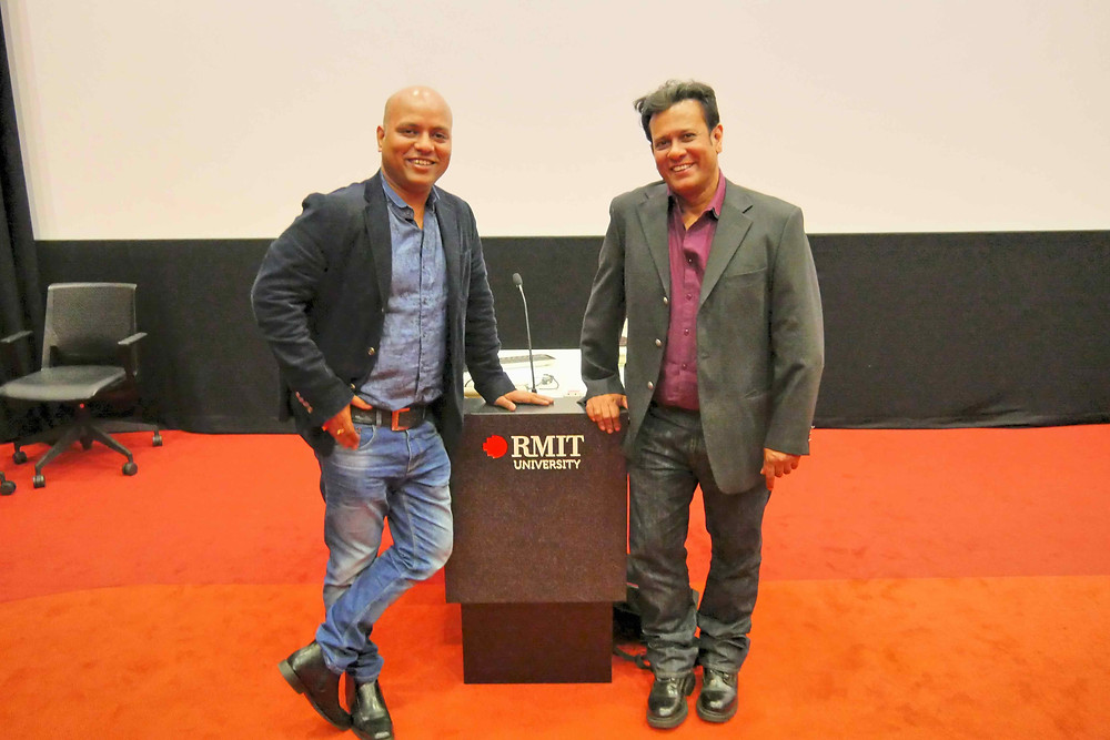 Dr Vikrant Kishore with the film Director Bedabrata Pain