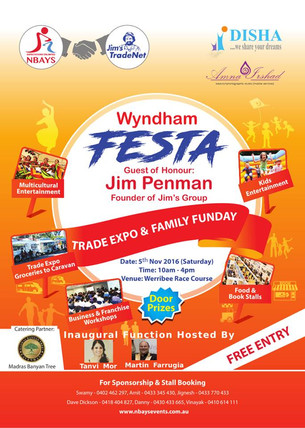 Wyndham Festa- Trade Expo & Family Fun Day on Saturday, 5th November at the Werribee Racecourse!