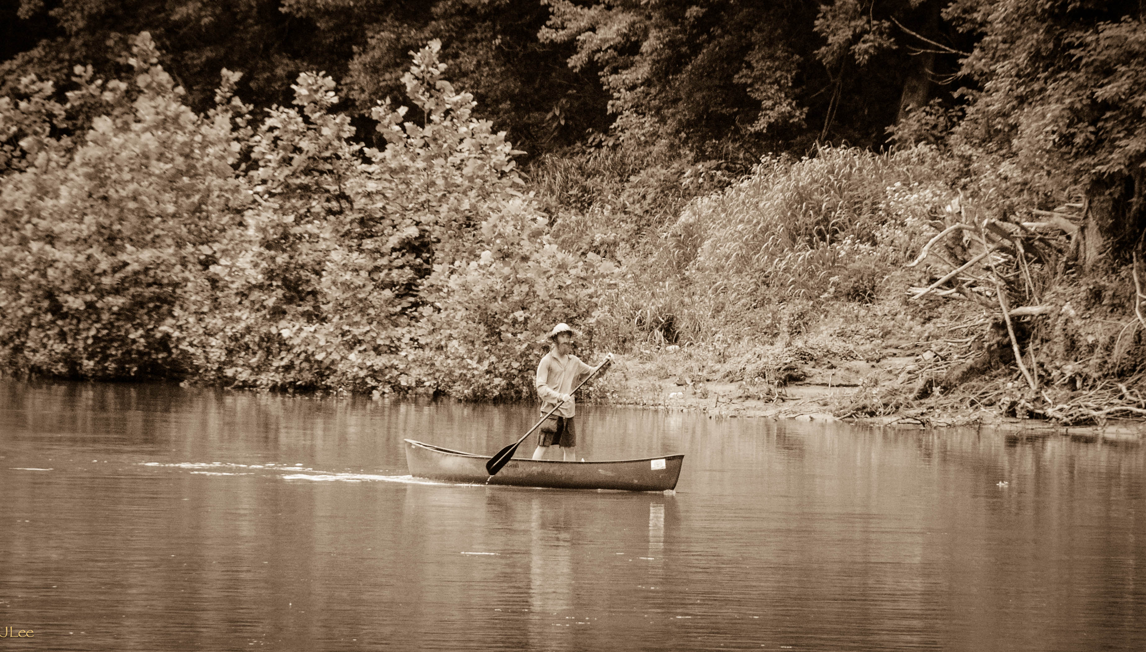 Huck Finn on Shenandoah