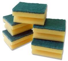 10 x Green Sponge Scourers