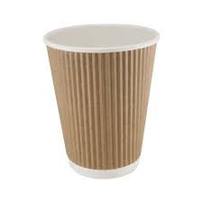 12oz Brown Kraft Ripple Cup