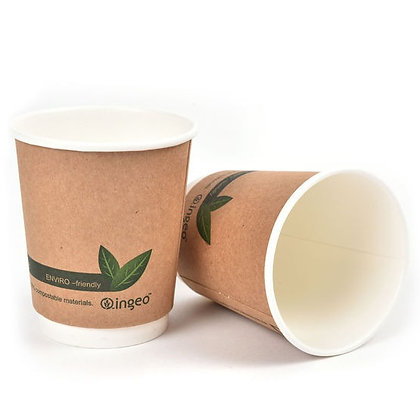 16oz PLA Kraft Double Wall Hot Drink Paper Cup