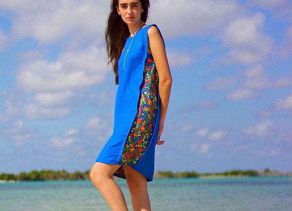 Frida Midi Dress - Royal Blue