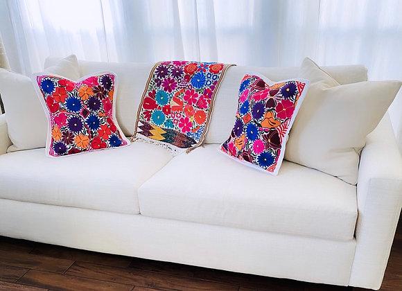 Multicolored Pillow Shams - Set of 2