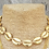 Thumbnail: Shell Adjustable Choker Necklace - 14K F