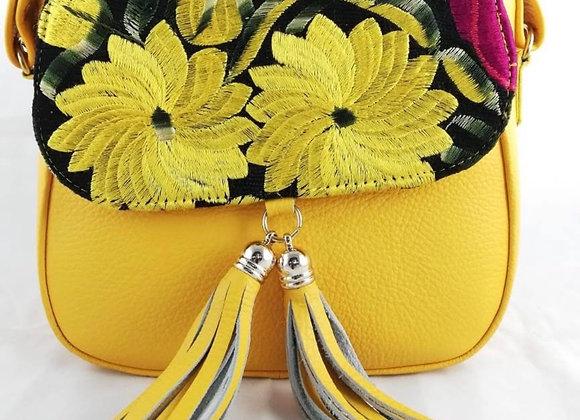 Tatiana Leather Crossbody - Yellow