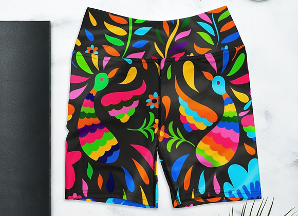 Otomi Yoga Shorts - Black