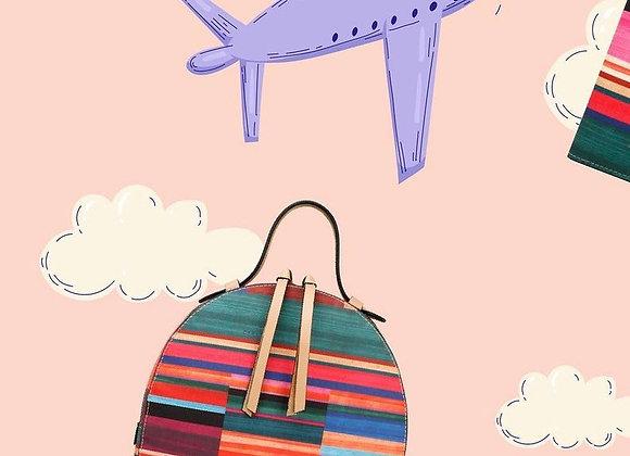 Sarape Leather Backpack