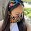 Thumbnail: Black Garden Embroidered Headband