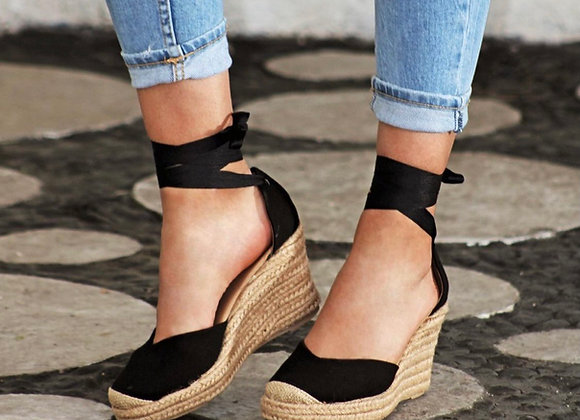 Coco Ballerina Wedge - Black