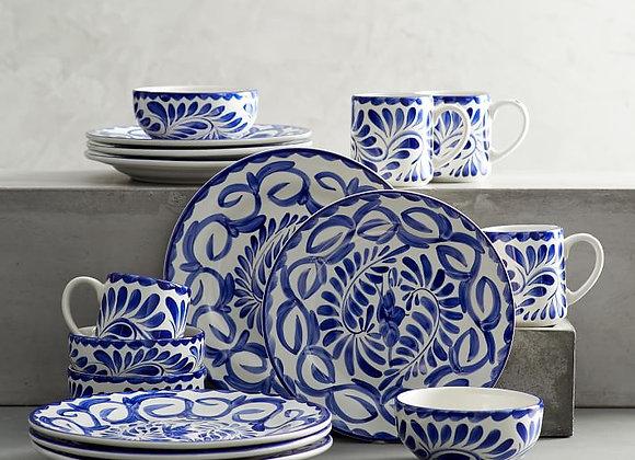 Puebla Stoneware 16-Piece Dinnerware Set