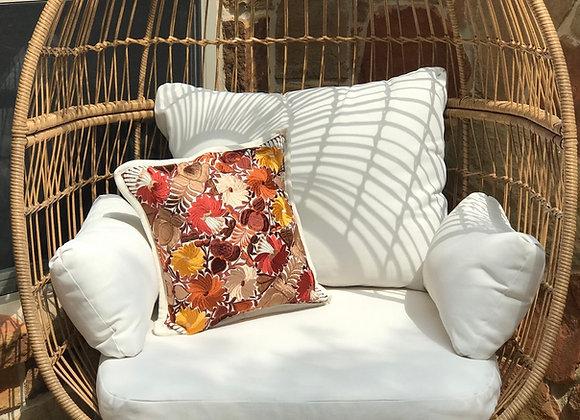Golden Embroidered Pillow Shams -Set of 2