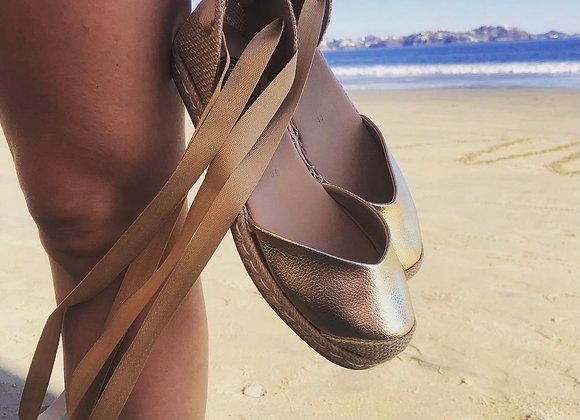 Coco Ballerina Flat - Metallic