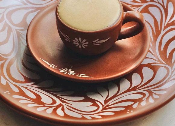 Puebla Vintage Cappuccino 8 Piece Set for 4 - Porcelain