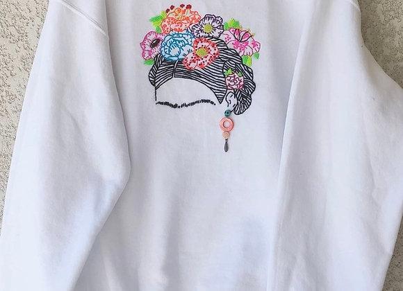 """Yo te Cielo"" - Frida Kahlo Sweatshirt - White"