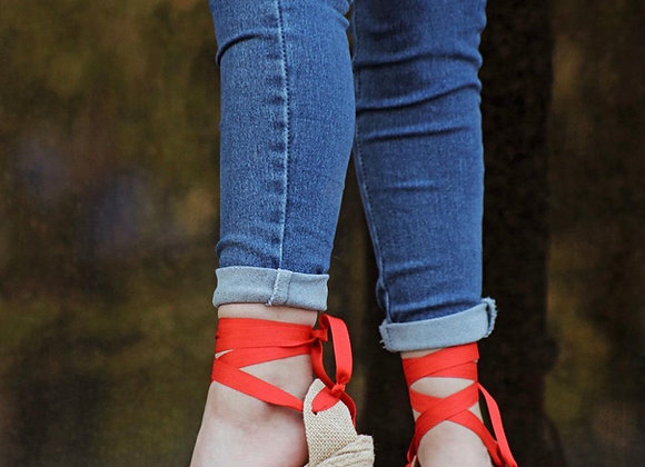 Coco Ballerina Wedge - Red