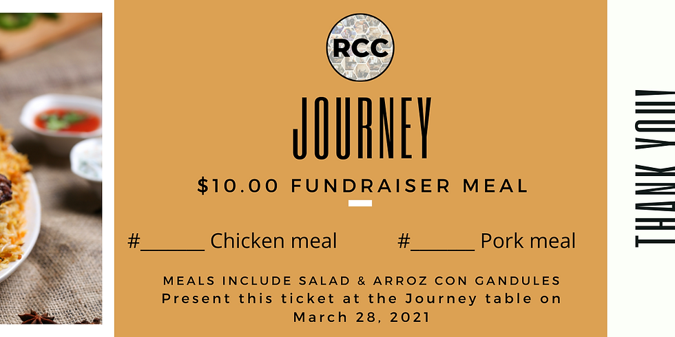 Journey Fundraiser - purchase a meal!